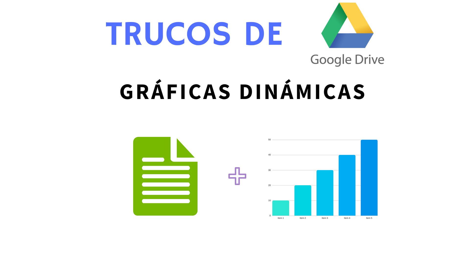 insertar gráficas dinámicas en documentos y presentaciones de google